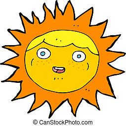 sun cartoon character