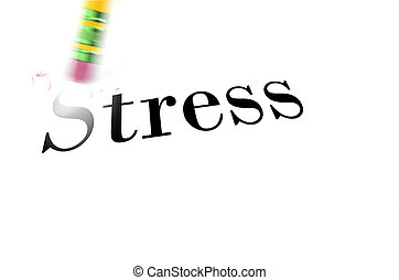 Erasing Stress with Pencil Eraser - Person using a pencil...