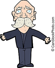 cartoon disappointing old man - cartoon disappointed old man