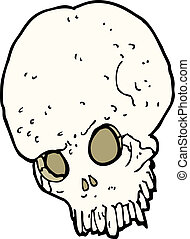 cartoon spooky skull