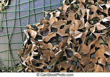 Camouflage netting for military or hunting use