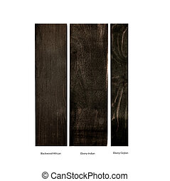blackwood, ebony wood samples - wood samples of...