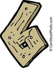 cartoon wooden number