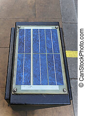 Solar powered - Solar panel at top of traffic control box