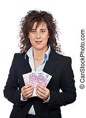 Holding a fan of money