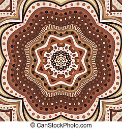 Brown romantic pattern. Vector illustration for sweet...