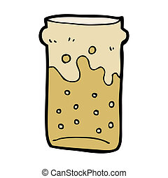 cartoon pint of beer