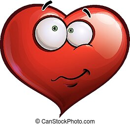 Heart Faces Happy Emoticons - Wandering - Cartoon...