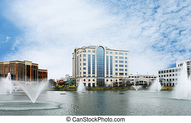 City Center at Oyster Point Newport News Va on a nice...