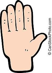 cartoon open hand