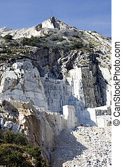 open quarry of white marble - An open quarry of white marble...