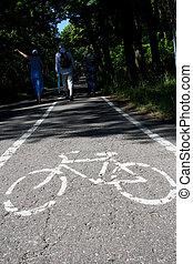bikeway in forest