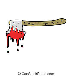 cartoon bloody axe