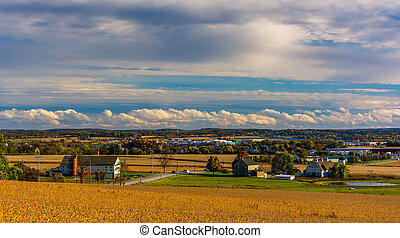 View of Hanover, Pennsylvania from Hershey Heights. - View...