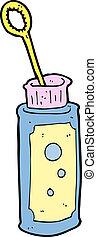cartoon bubble blower