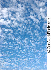 Clouds on blue sky - Background of clouds on blue sky