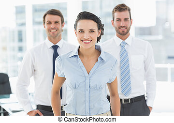 Confident smiling business team in office - Portrait of a...