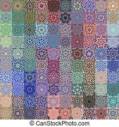 flower rags pattern