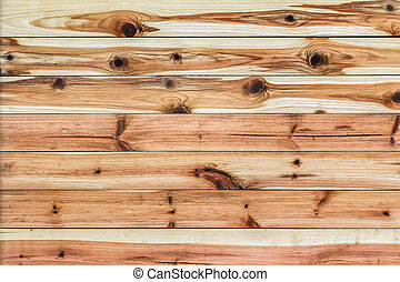 White Pine Planks Hut Wall Surface - Detail - Photograph of...