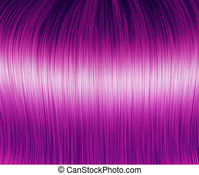 Purple hair texture - Digital generated sleek purple hair...
