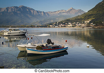 Peaceful morning on Thassos island - Tranquil landscape view...