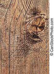 Old Weathered Cracked Knotted Plank - Detail