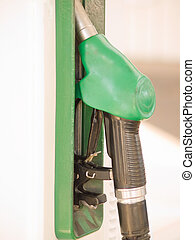 Service Station - Fuel nozzle with copy space