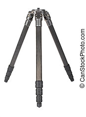 Photographic tripod - Carbon fiber tripod isolated on white...