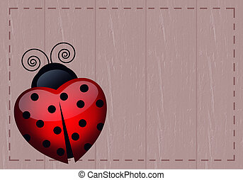 ladybug with heart - ladybug-shaped heart for Valentines Day