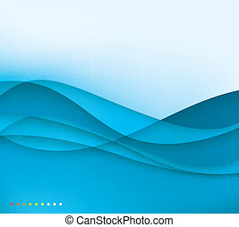 abstract waves - abstract calm waves background template in...