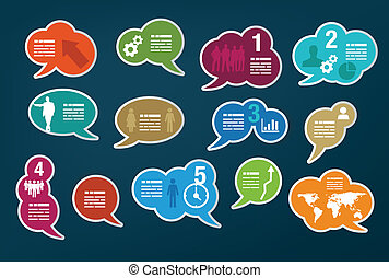 Collection of speech bubbles - Set of different vivid...