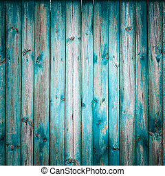 Grunge Wooden Texture With Natural Patterns - Blue Grunge...