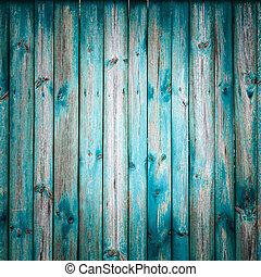 Grunge Wooden Texture With Natural Patterns - Blue Grunge...