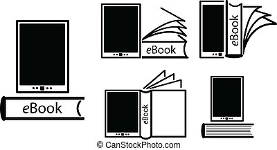 electronic book concept - E-book reader, e-reader vector...