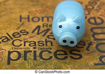 cerdito, Banco, precios, concepto