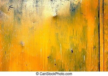yellow door texture background