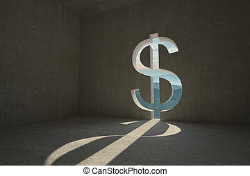 Dollar sign door