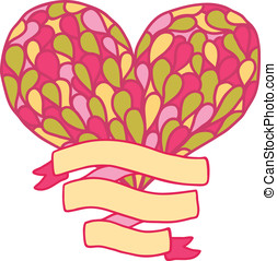 Doodle heart. Valentines day vector illustration