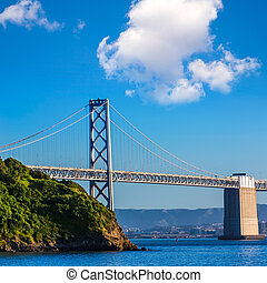 Bay Bridge in San Francisco California - Bay Bridge in San...