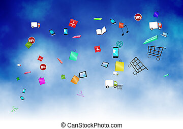 Floating application icons