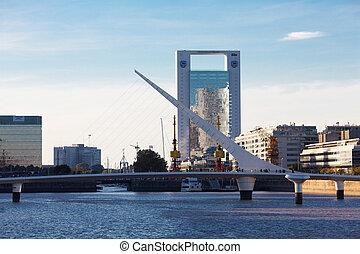 Puente De La Mujer Bridge Of The Women designed by Santiago...