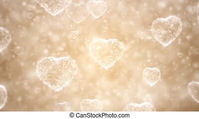 Valentine day background, flying hearts