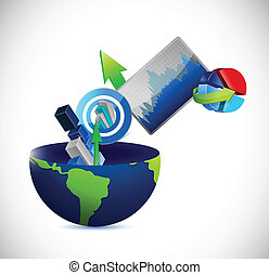 business globe concept illustration design