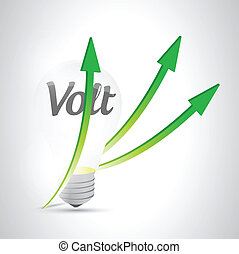 light bulb volt illustration design over a white background