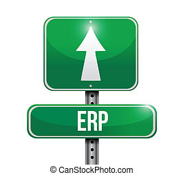 erp road sign illustration design