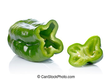 Green pepper slices - A fresh and tasty green pepper slices...