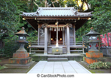 Shinto shrine in Kamakura, Japan