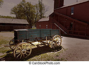California Columbia carriage in an old Western Gold Rush Town