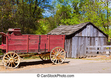 California Columbia carriage in an old Western Gold Rush...