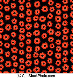 Ditsy floral pattern with small red flowers